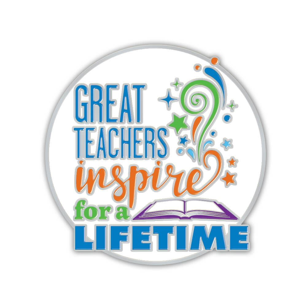 Great Teachers Inspire For A Lifetime Lapel Pin With Presentation Card