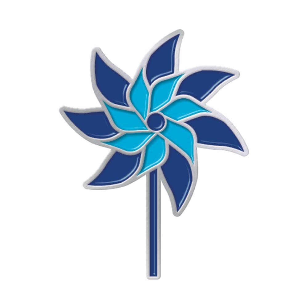 Pinwheel Icon  Lapel Pin With Presentation Card