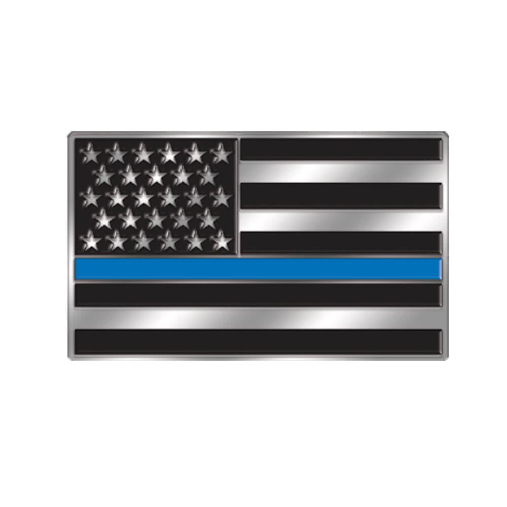 The Thin Blue Line Lapel Pin with Presentation Card