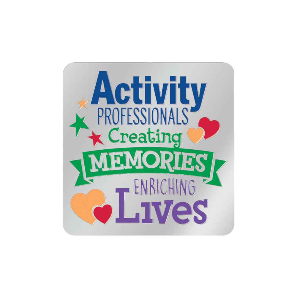 Activity Professionals: Creating Memories, Enriching Lives Lapel Pin With Presentation Card