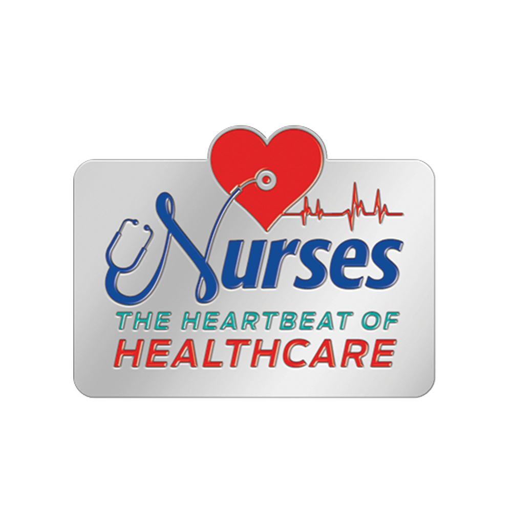 Nurses: The Heartbeat Of Healthcare Lapel Pin With Presentation Card