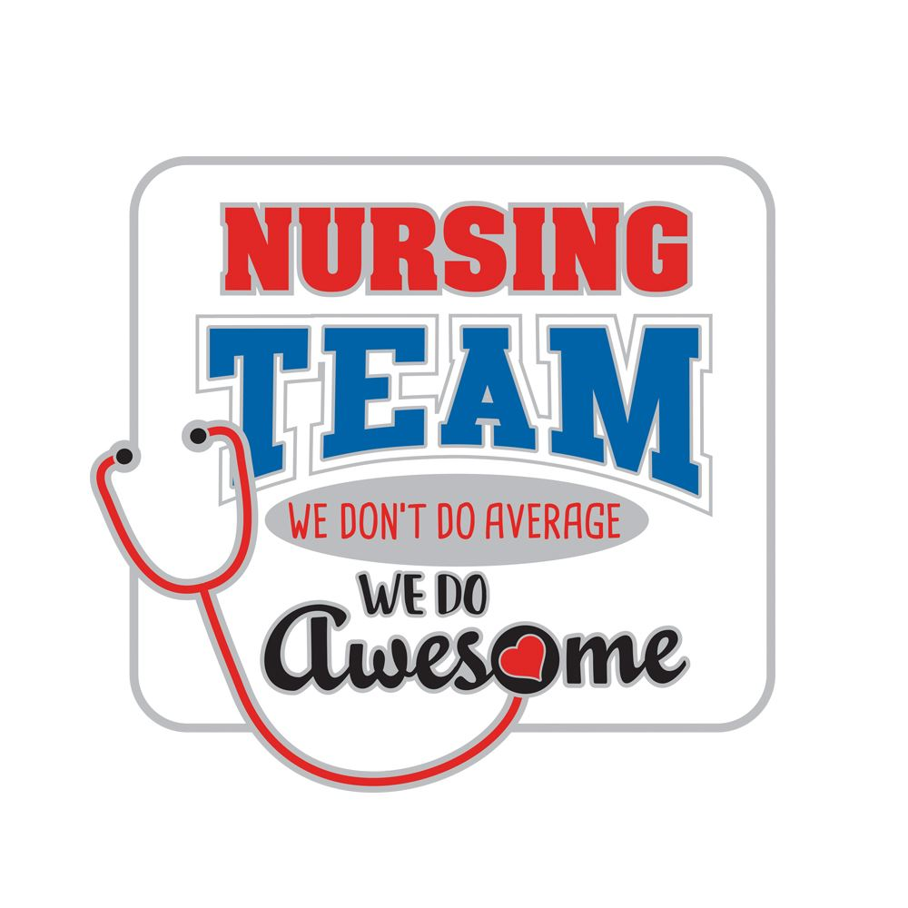 Nursing Team: We Don't Do Average, We Do Awesome Lapel Pin With Presentation Card