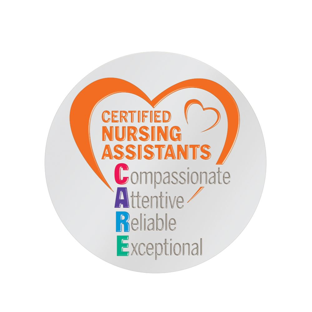 Certified Nursing Assistants CARE Lapel Pin With Presentation Card