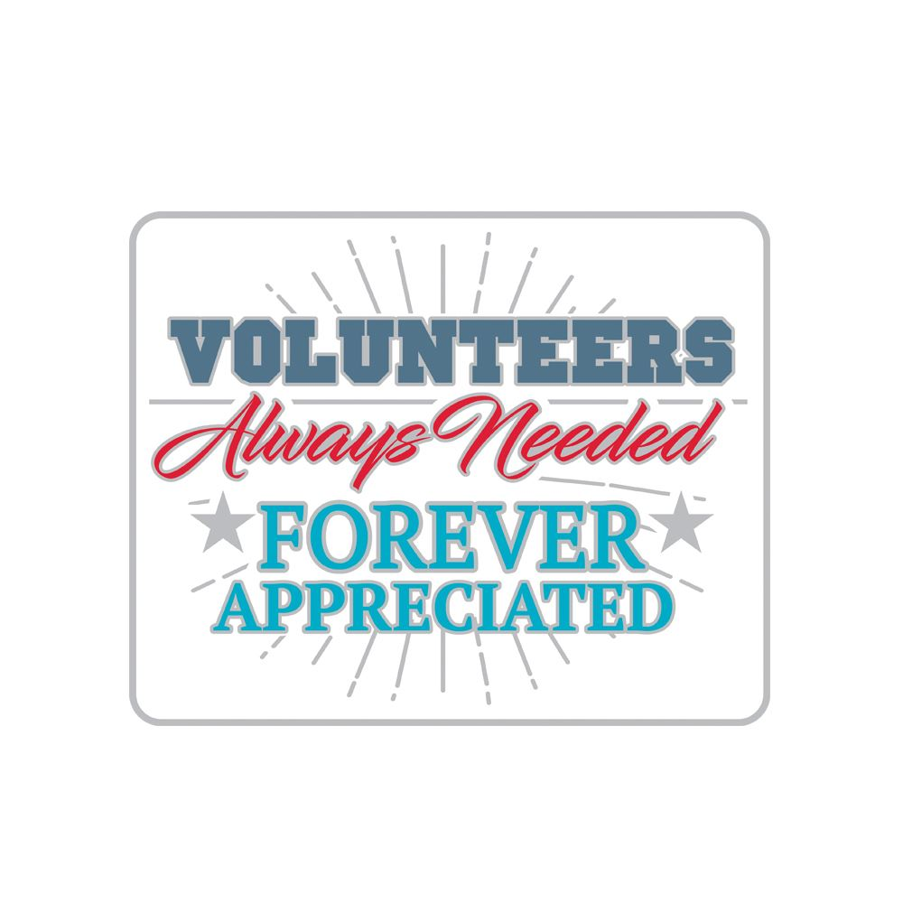 Volunteers: Always Needed, Forever Appreciated White Lapel Pin With Presentation Card