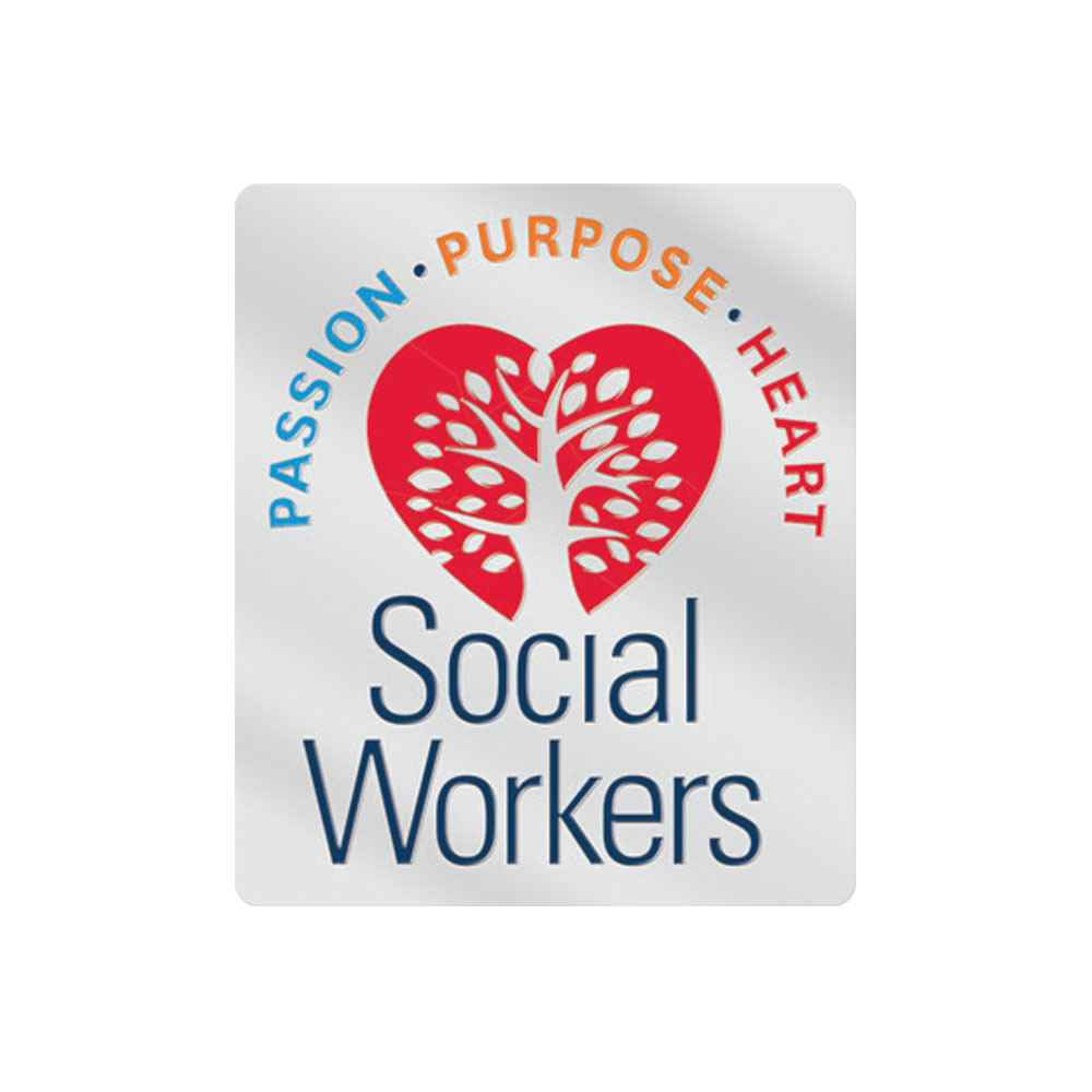 Social Workers: Passion, Purpose, Heart Lapel Pin With Presentation Card