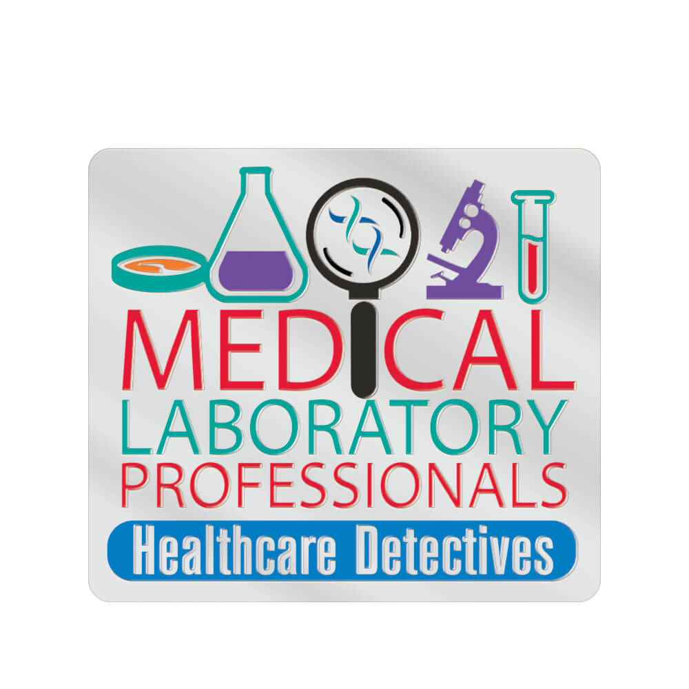 Medical Laboratory Professionals: Healthcare Detectives Lapel Pin With Presentation Card