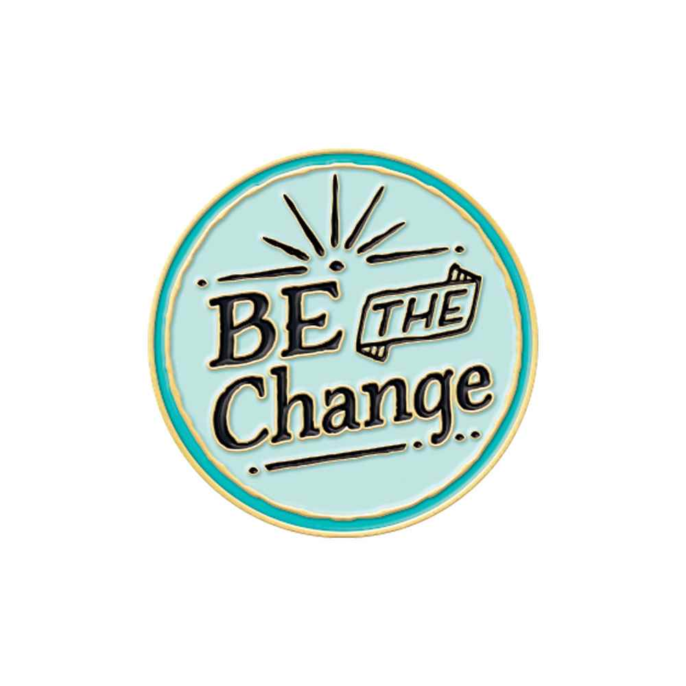 Be The Change Lapel Pin With Presentation Card