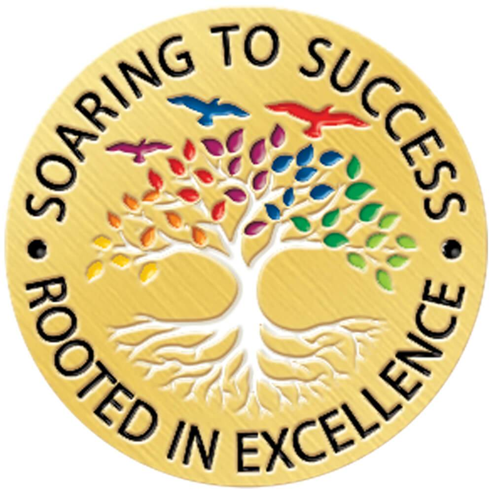 Soaring To Success, Rooted In Excellence Lapel Pin With Presentation Card