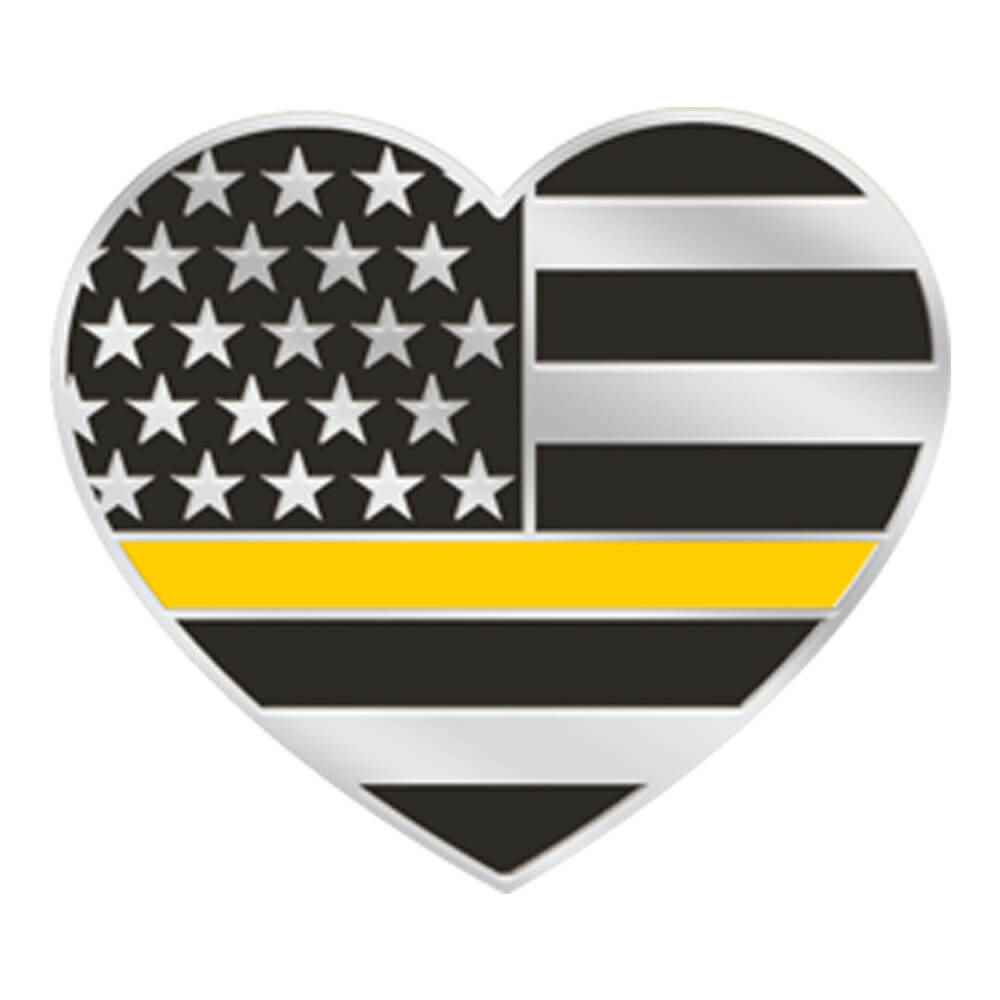 The Thin Gold Line Heart-Shaped Lapel Pin with Presentation Card