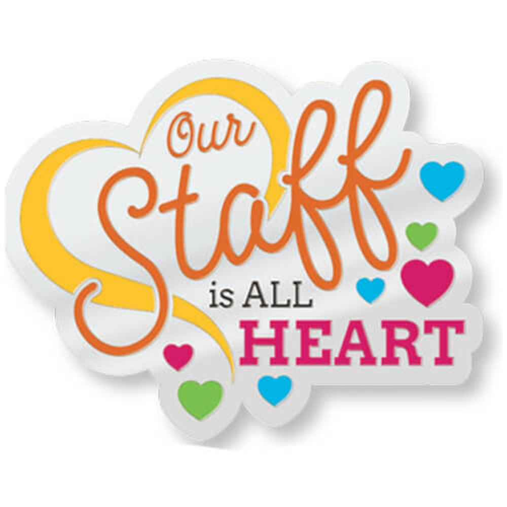 Our Staff Is All Heart Lapel Pin With Presentation Card