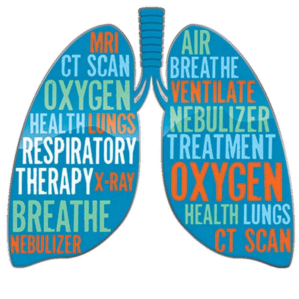 Lungs Word Cloud Lapel Pin With Presentation Card