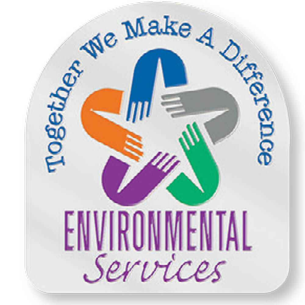 Environmental Services: Together We Make A Difference Lapel Pin With Presentation Card
