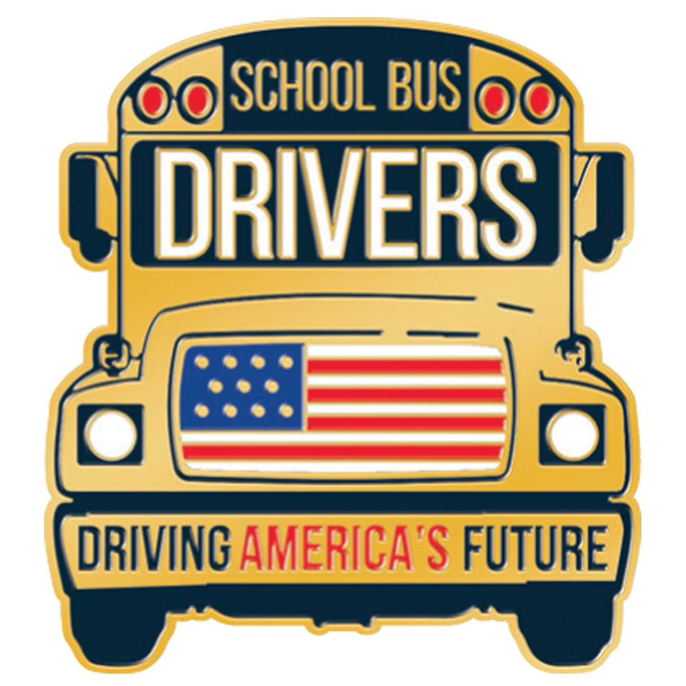 School Bus Drivers: Driving America's Future Lapel Pin With Presentation Card