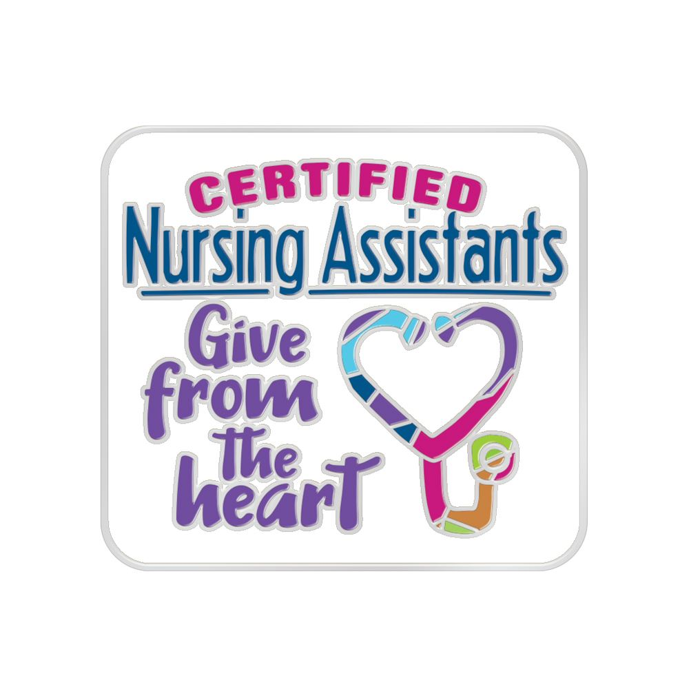 Certified Nursing Assistants Give From The Heart Lapel Pin With Presentation Card