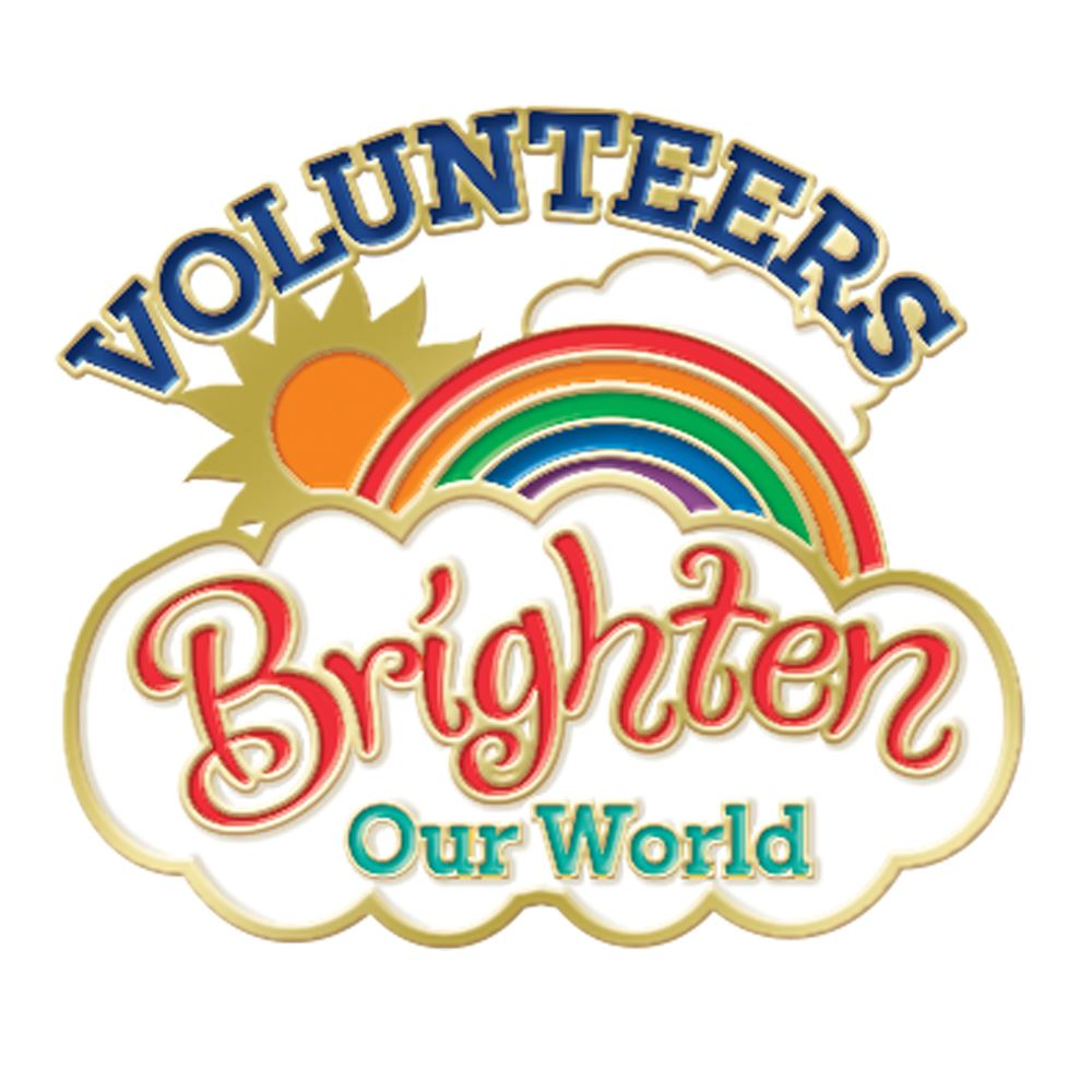 Volunteers Brighten Our World Lapel Pin With Presentation Card