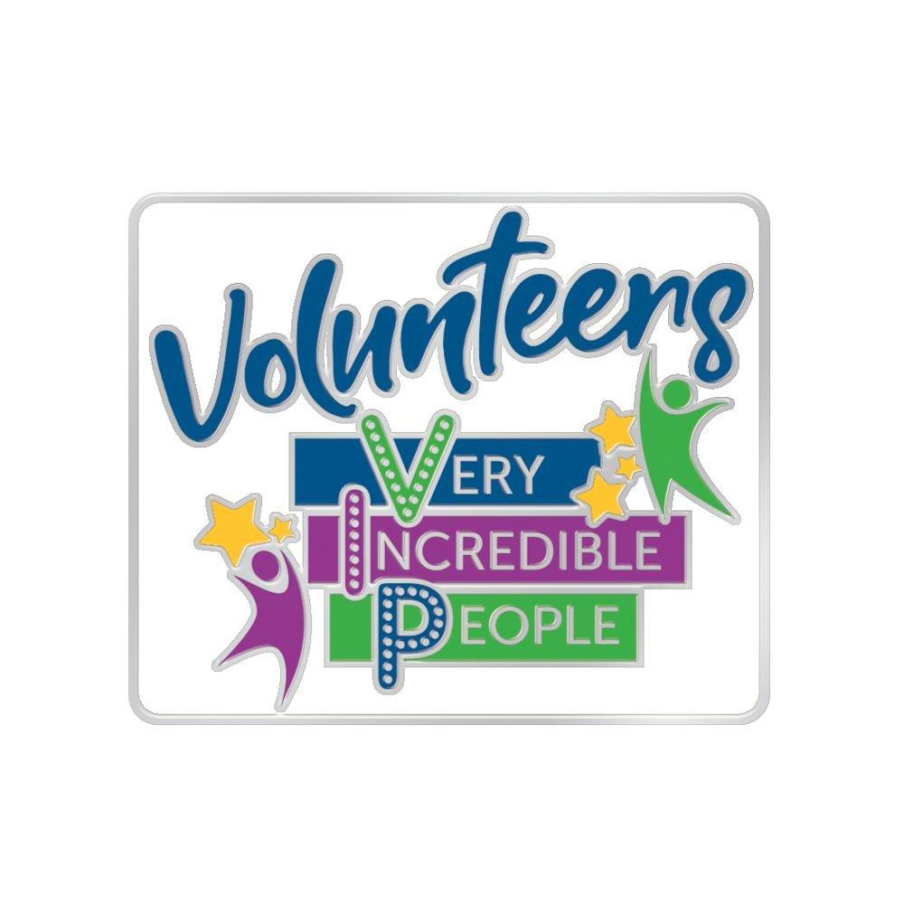 Volunteers: Very Incredible People Lapel Pin With Presentation Card