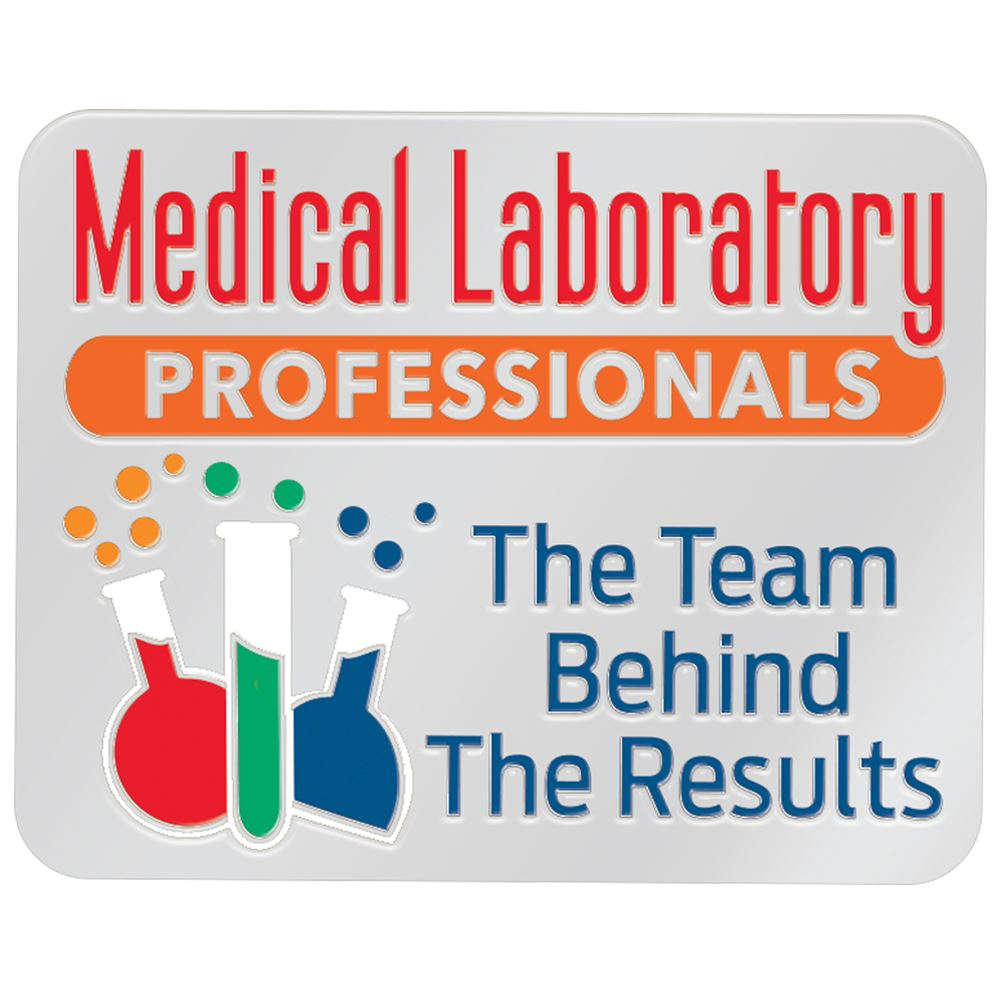 Medical Laboratory Professionals: The Team Behind The Results Lapel Pin With Presentation Card