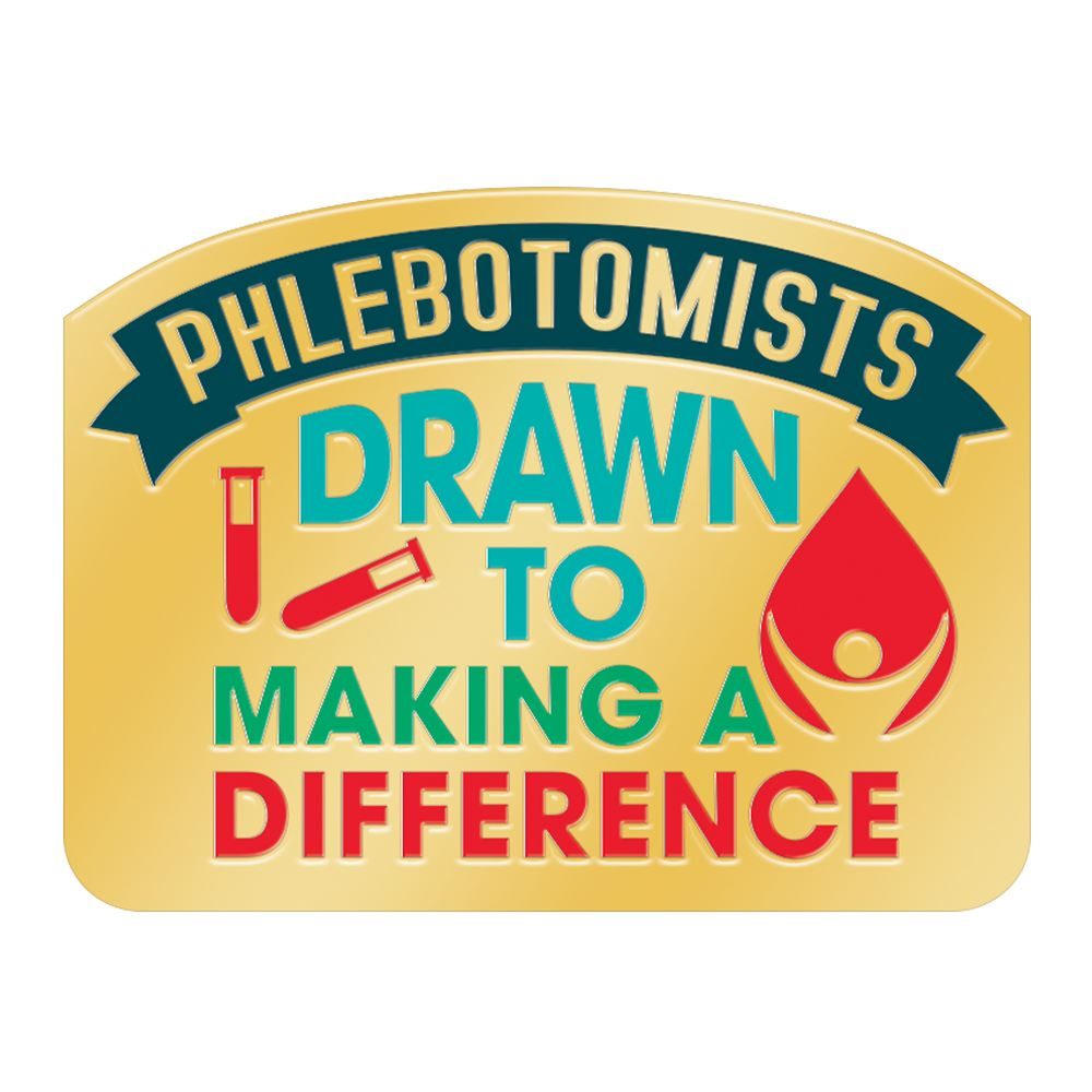 Phlebotomists Drawn To Making A Difference Lapel Pin With Presentation Card