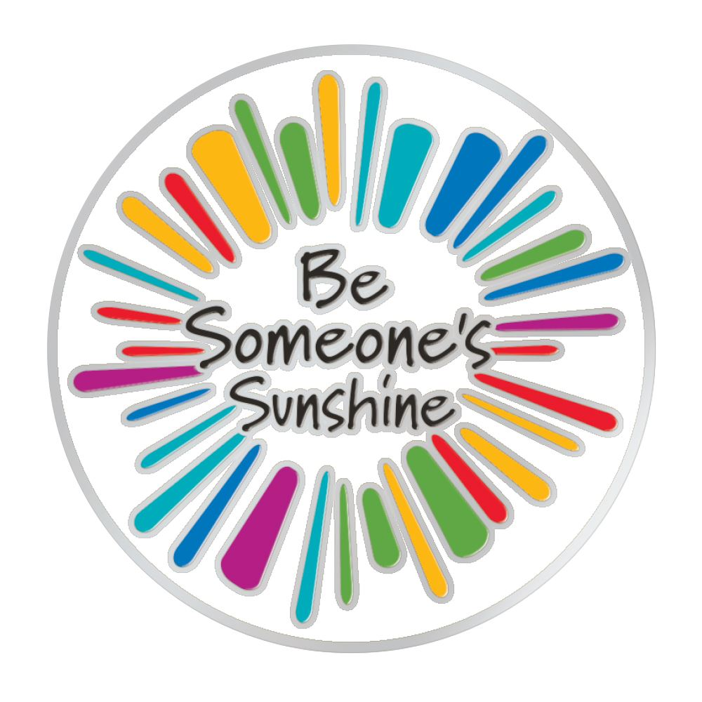 Be Someone's Sunshine Lapel Pin With Presentation Card