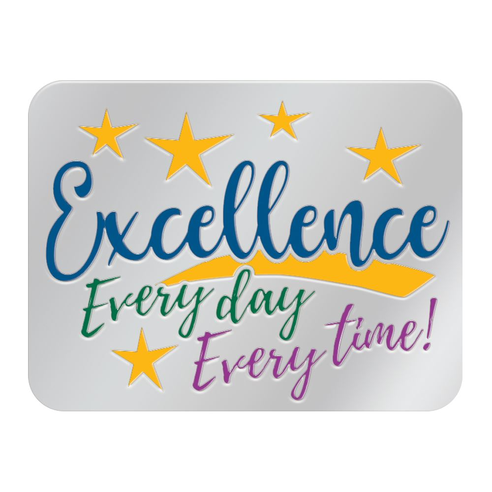Excellence Every Day Every Time Lapel Pin With Presentation Card