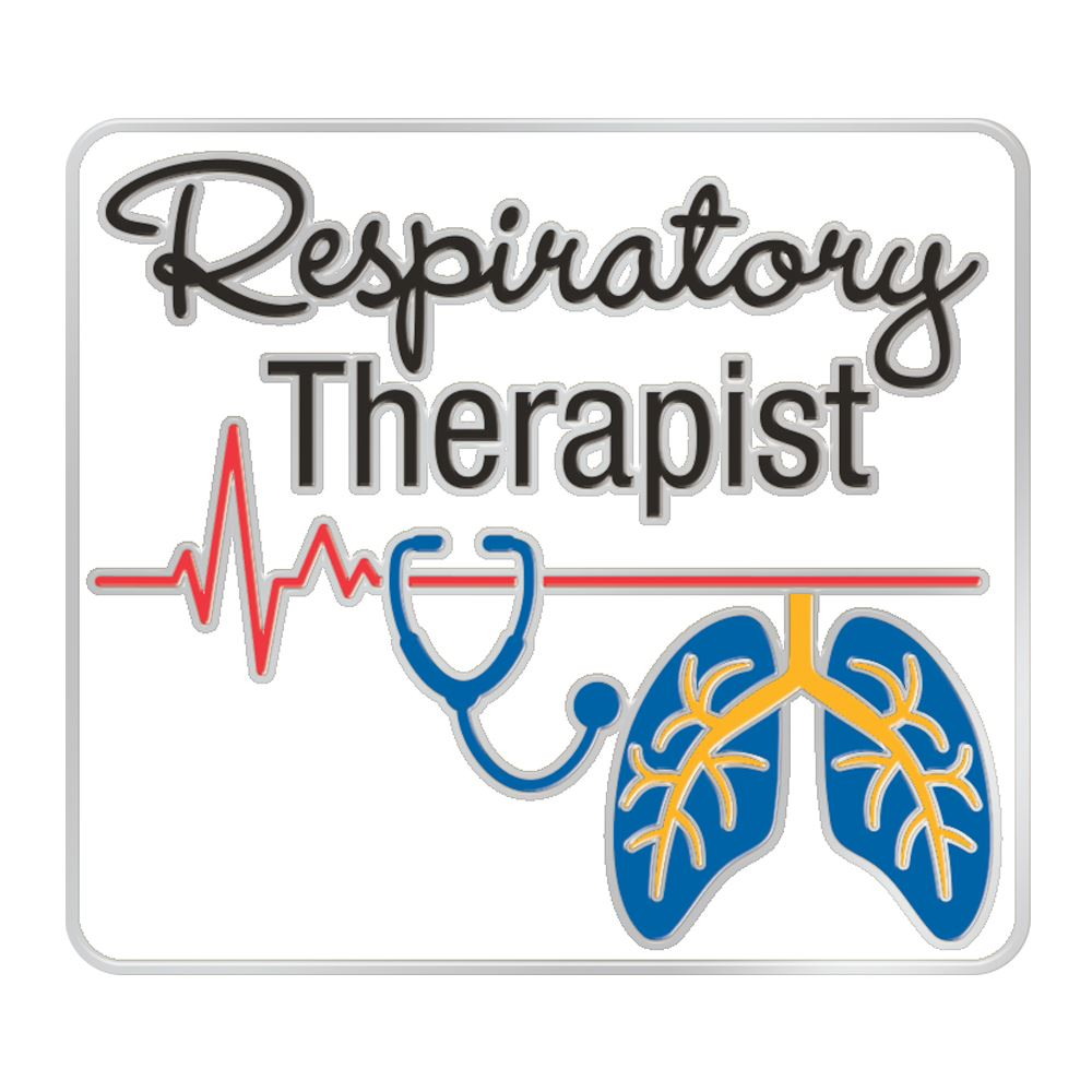 Respiratory Therapist (Heartbeat Lungs) Lapel Pin With Presentation Card