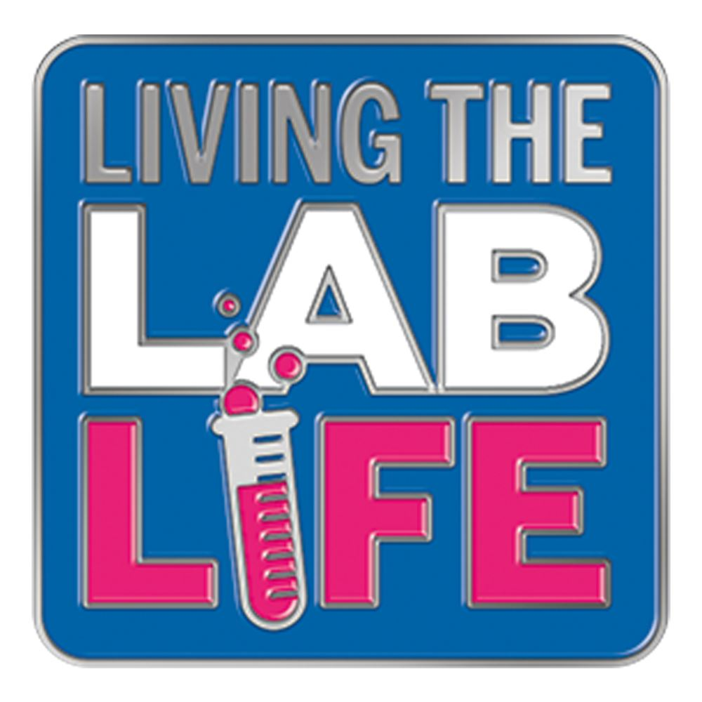 Living the Lab Life Lapel Pin With Presentation Card
