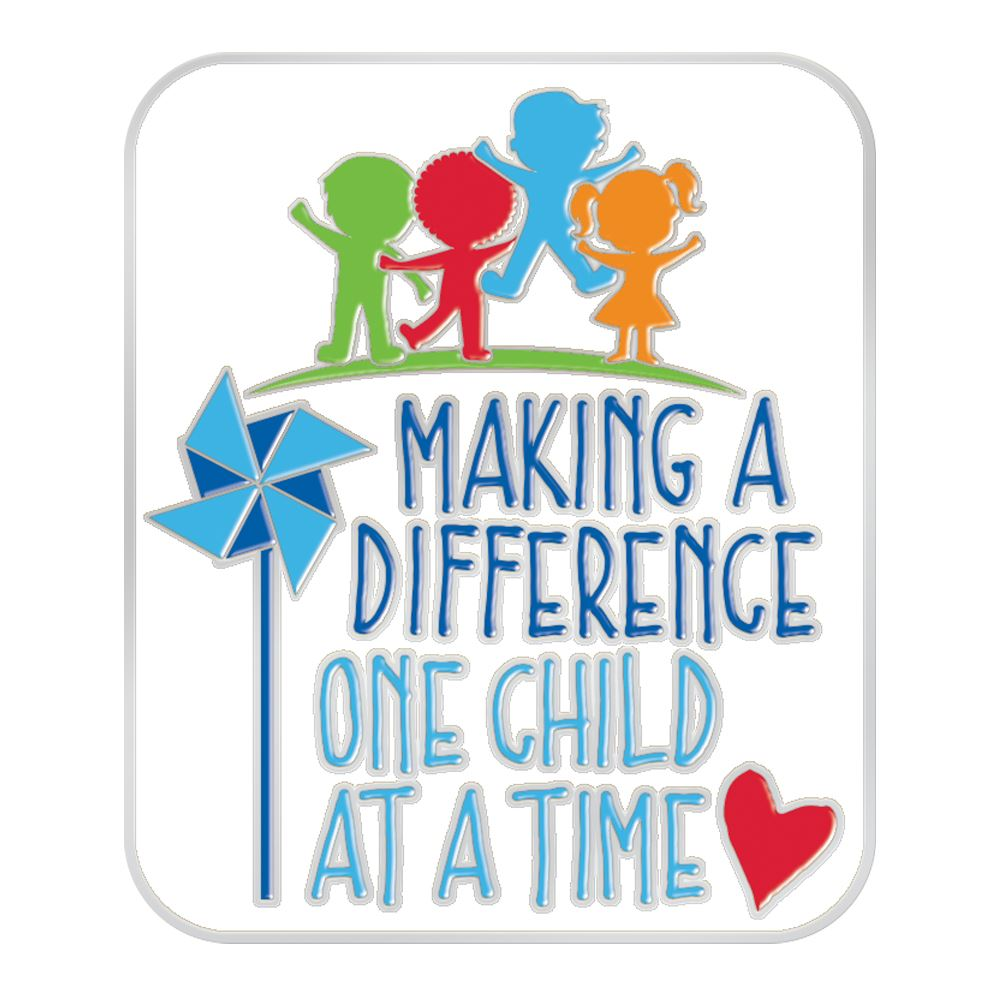 Making A Difference One Child At A Time Lapel Pin With Presentation Card