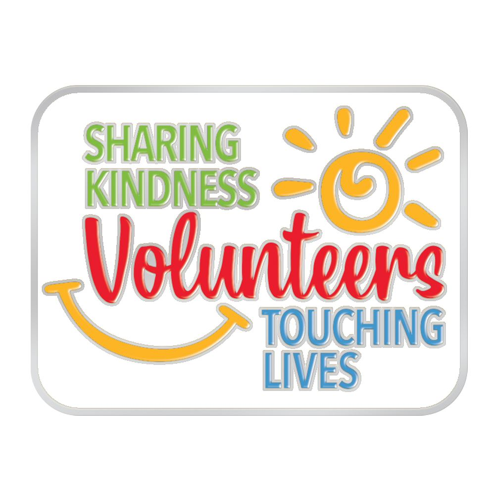 Volunteers: Sharing Kindness, Touching Lives Lapel Pin With Card