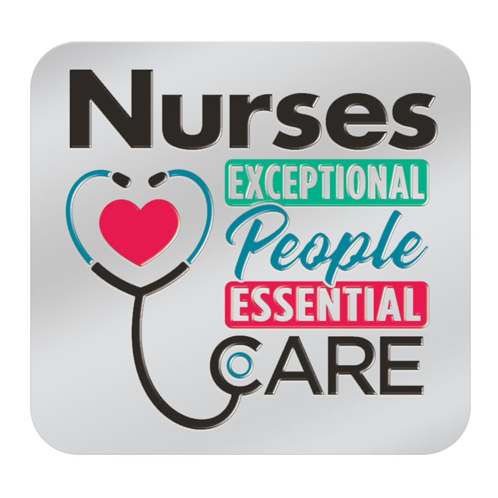 Nurses: Exceptional People, Essential Care Lapel Pin With Presentation Card