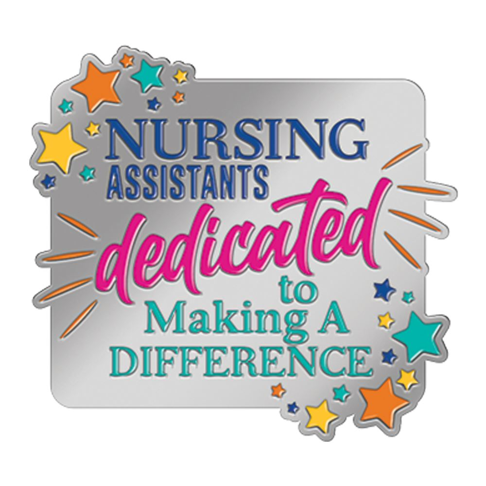 Nursing Assistants: Dedicated To Making A Difference Lapel Pin With Presentation Card