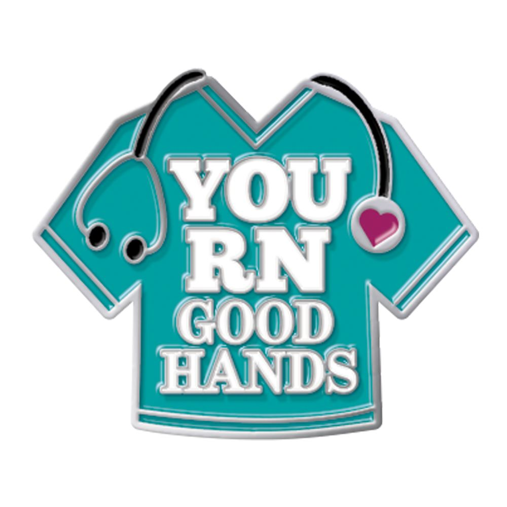 You RN Good Hands Lapel Pin With Presentation Card