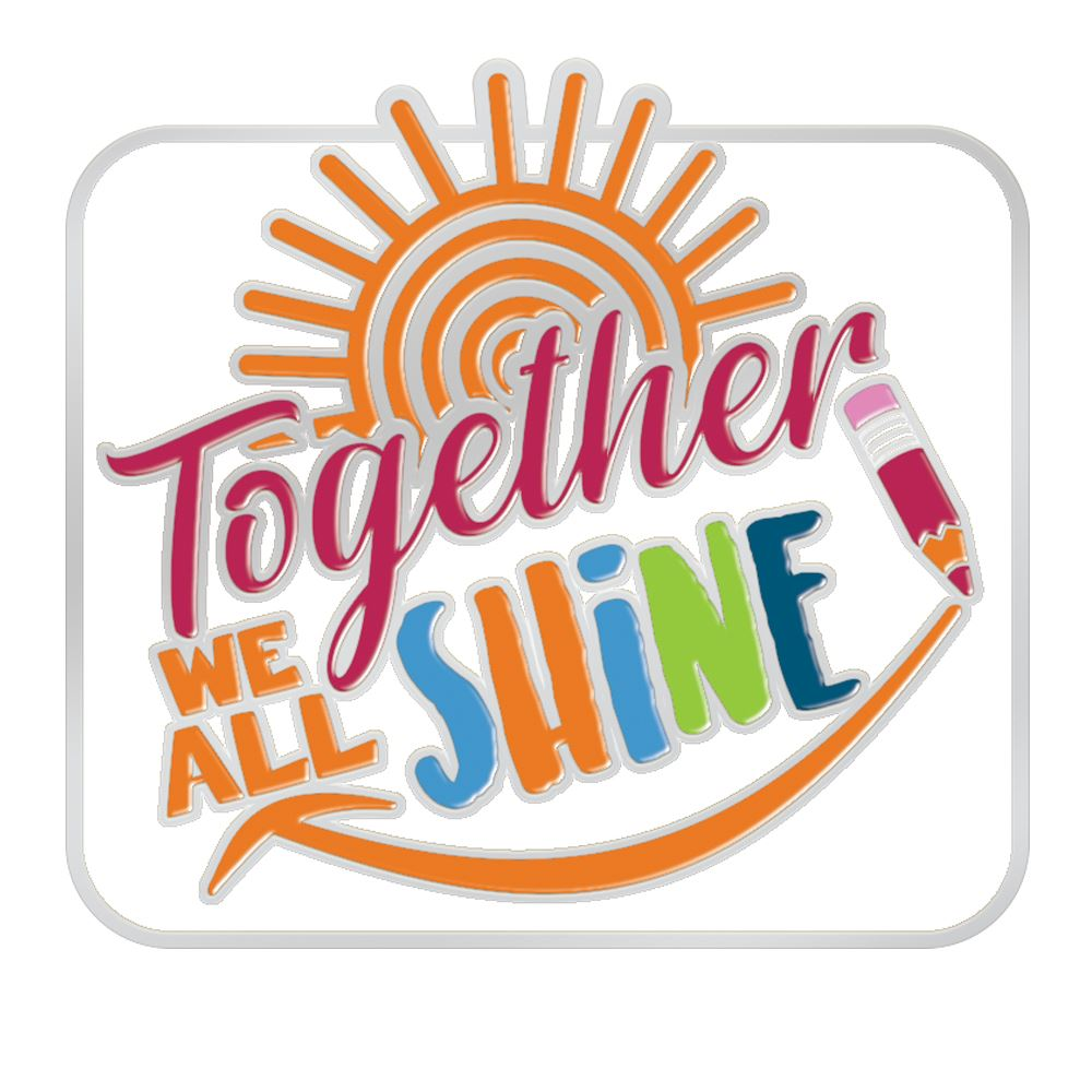 Together We All Shine Lapel Pin With Presentation Card