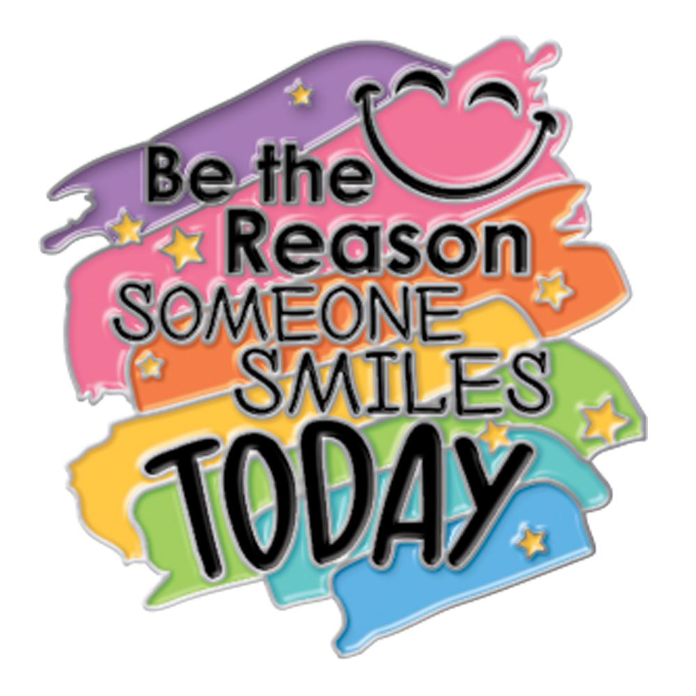 Be The Reason Someone Smiles Today Lapel Pin With Presentation Card