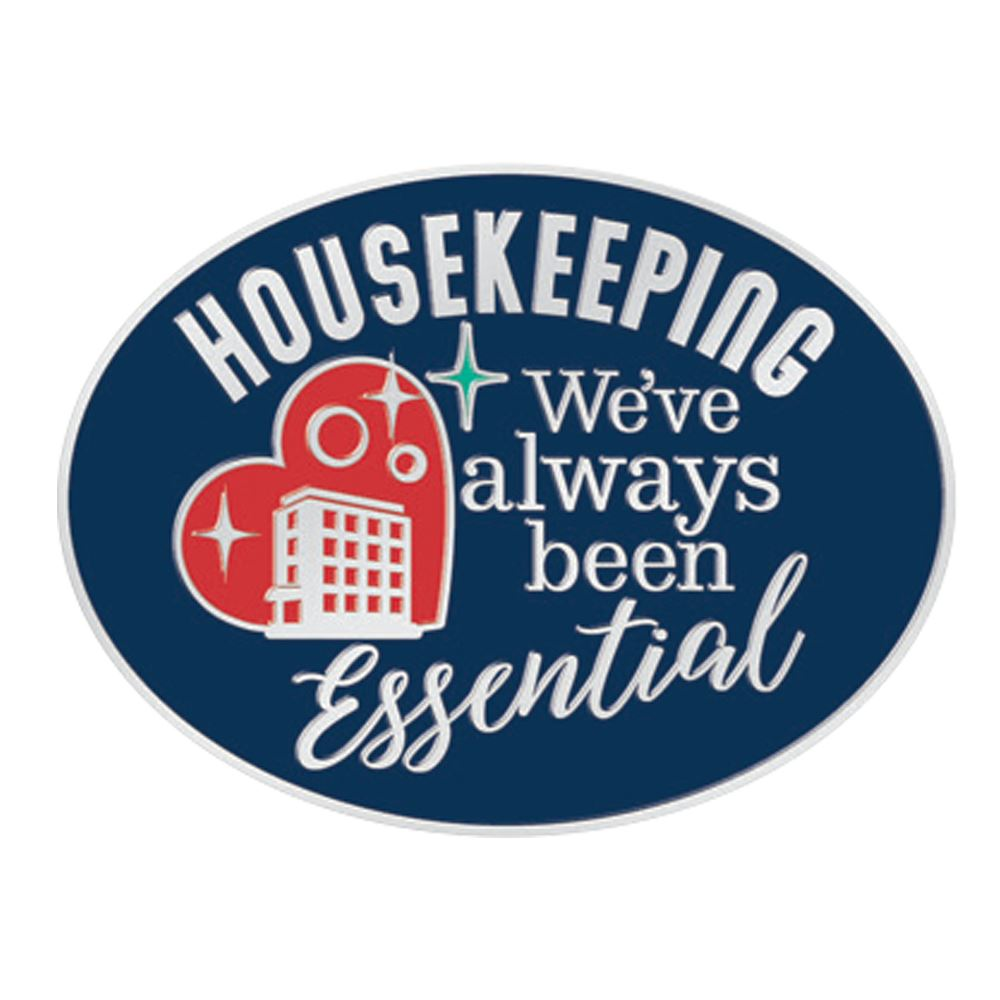Housekeeping: We've Always Been Essential Lapel Pin With Presentation Card