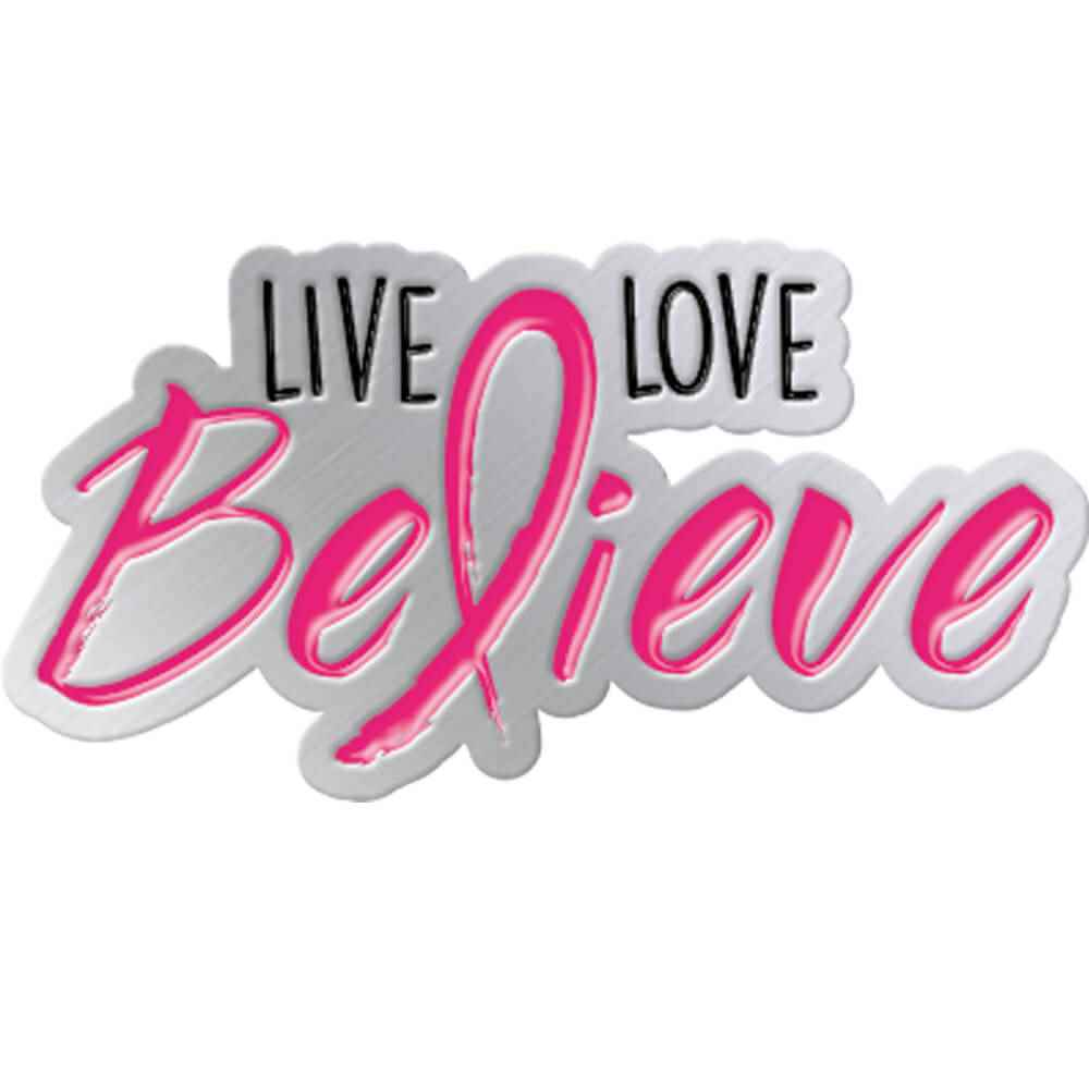 Live, Love, Believe Lapel Pin with Presentation Card