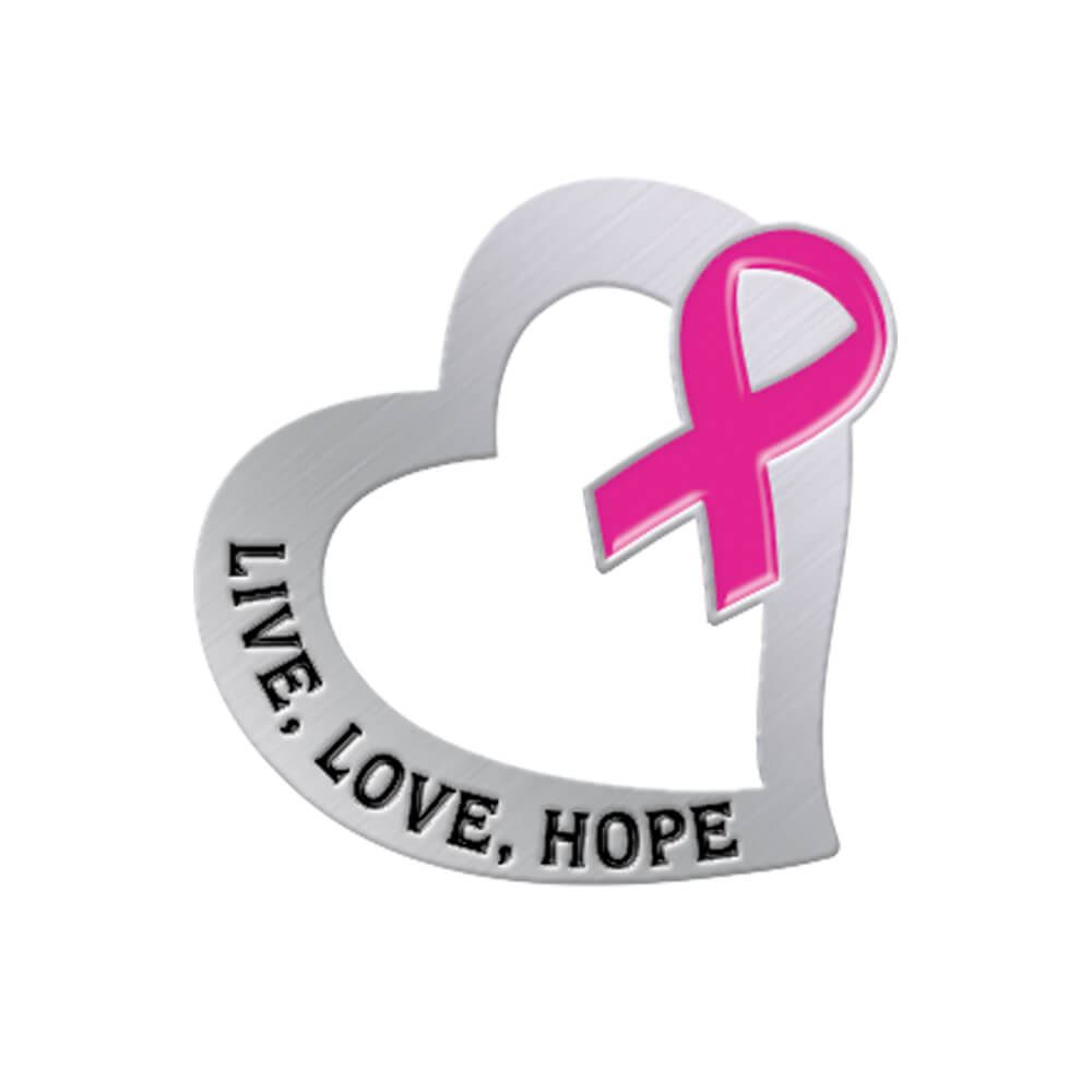Live, Love, Hope Lapel Pin with Presentation Card