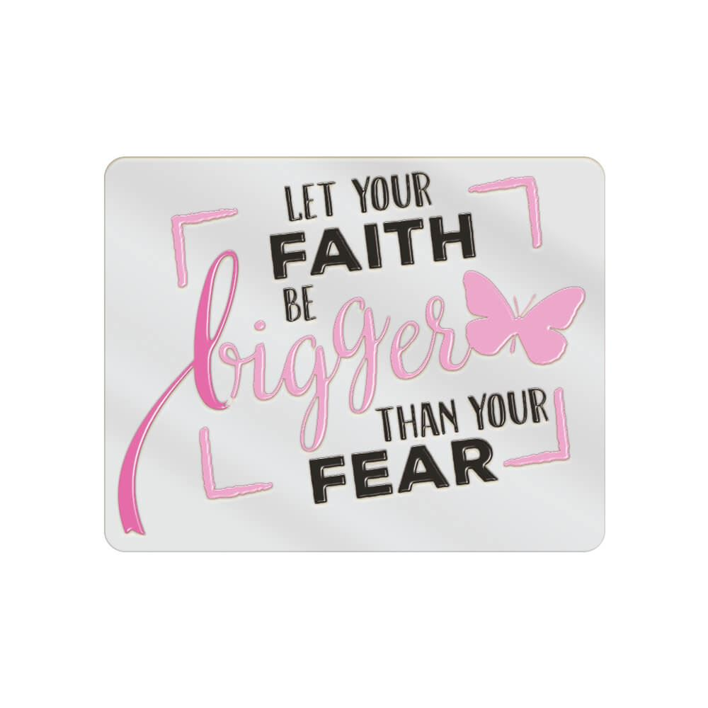 Let Your Faith Be Bigger Than Your Fear Lapel Pin With Presentation Card