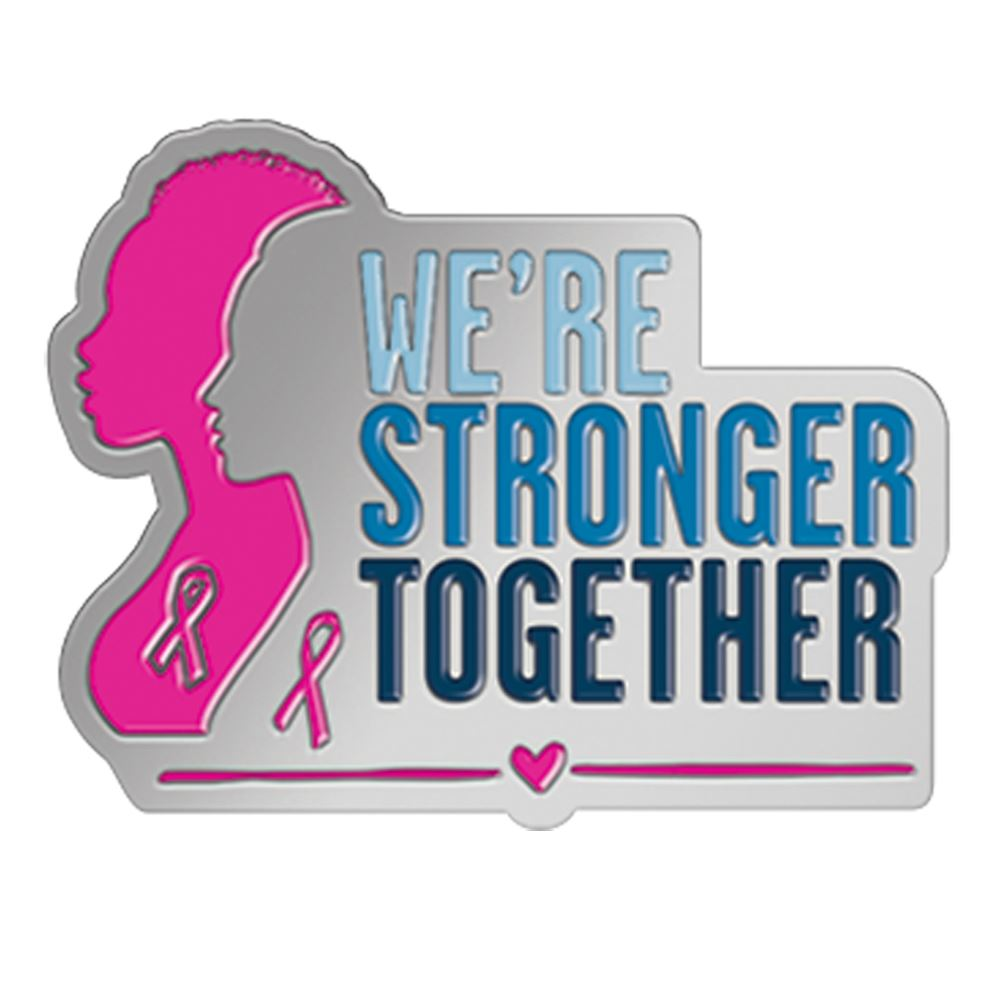 We're Stronger Together Lapel Pin With Presentation Card