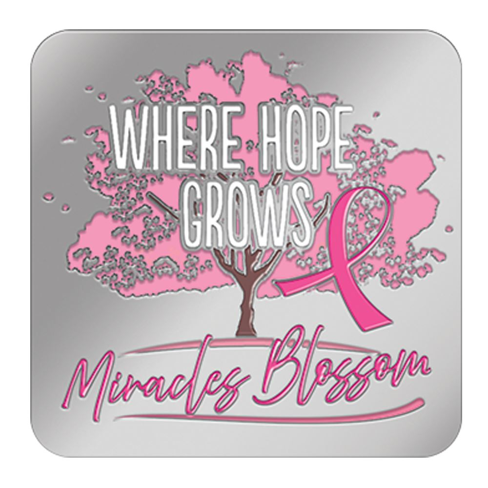 Where Hope Grows, Miracles Blossom Lapel Pin With Presentation Card