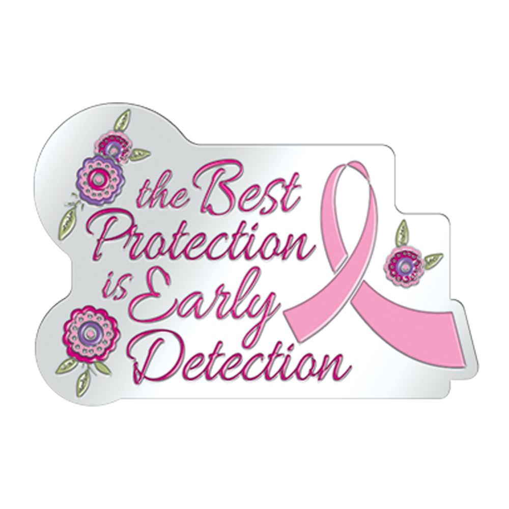 The Best Protection Is Early Detection Lapel Pin With Presentation Card