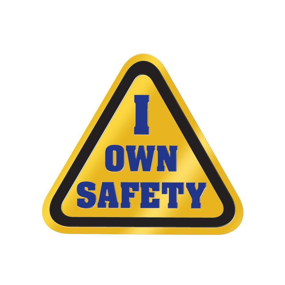 I Own Safety Lapel Pin With Safety-Themed Presentation Card
