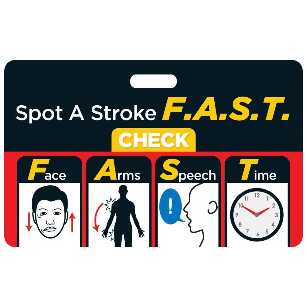 Spot A Stroke F.A.S.T. Hospital Laminated Badge Card