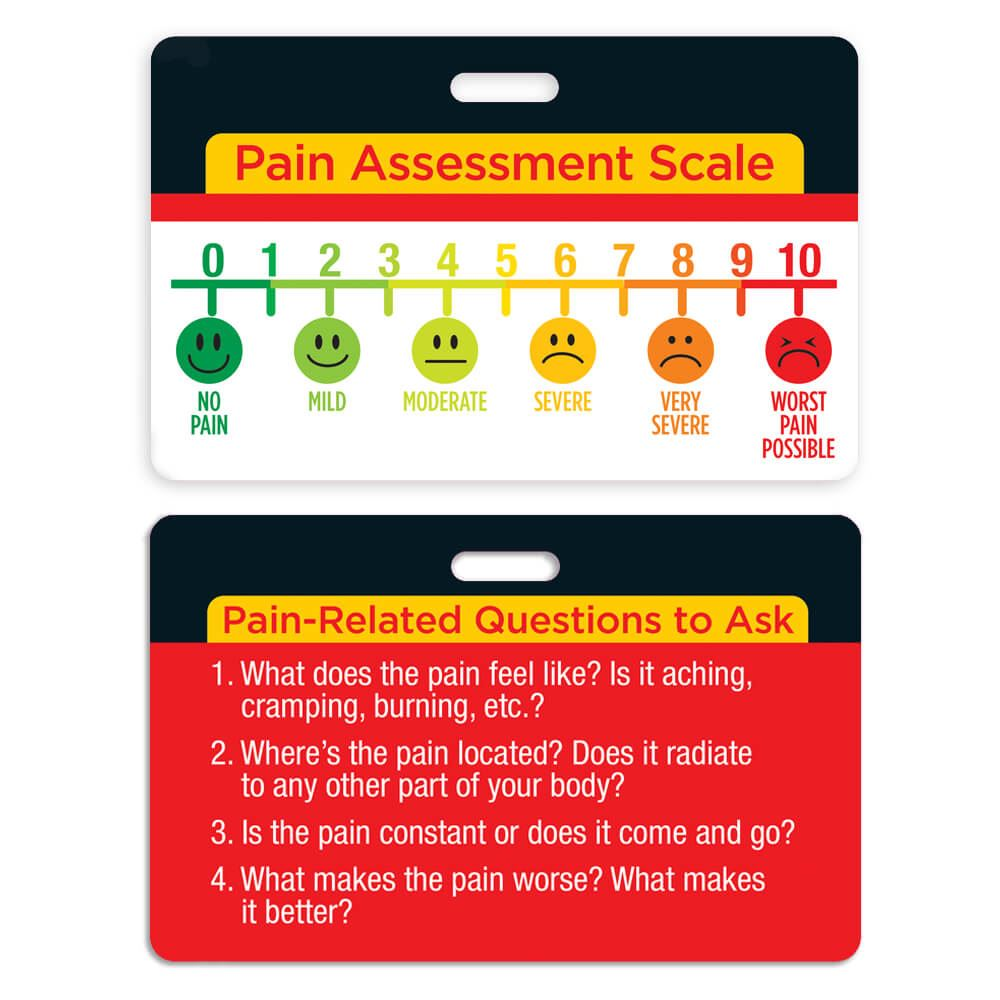 Pain Assessment Scale Laminated Badge Card