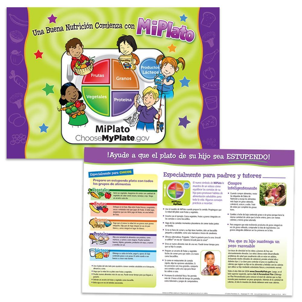 Good Nutrition Starts With MyPlate Laminated Placemat (Spanish)