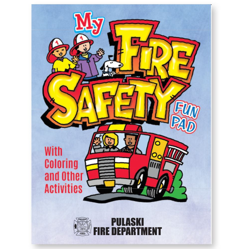 My Fire Safety Fun Pad - Personalization Available