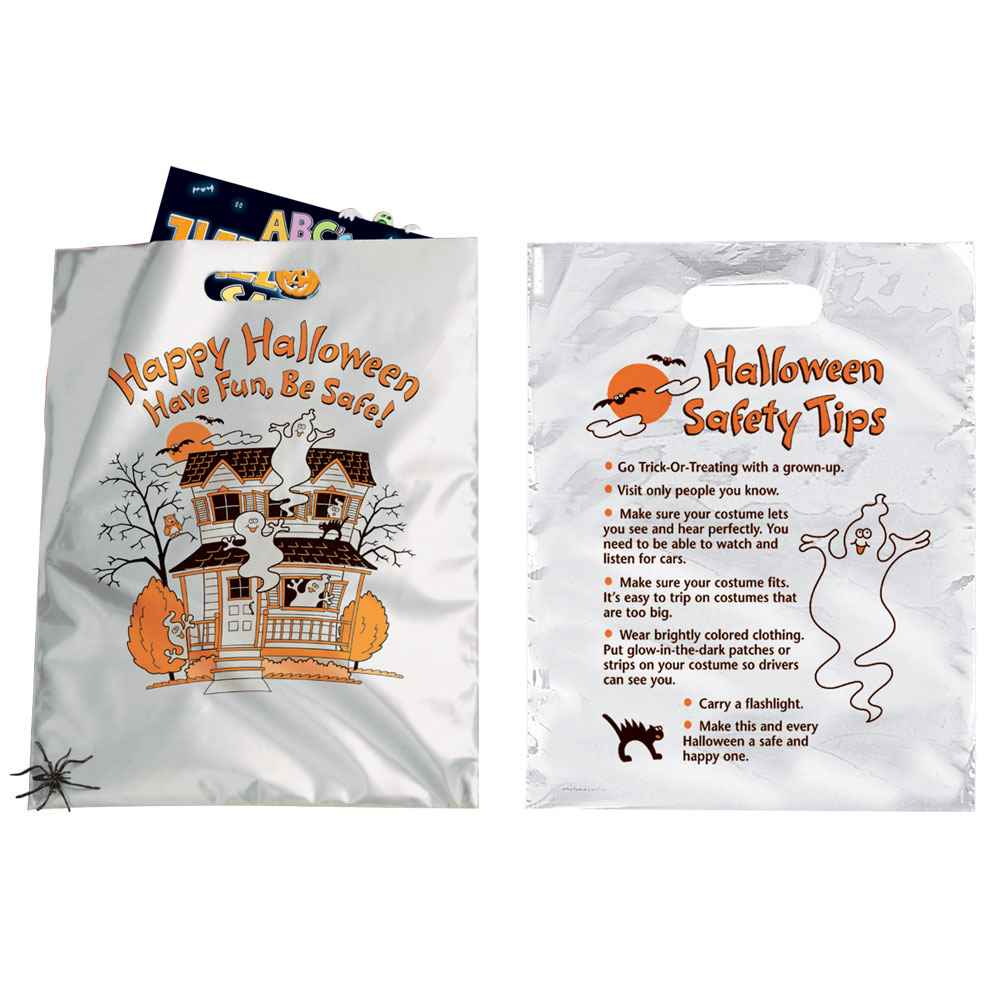 Happy Halloween: Have Fun, Be Safe!  Reflective Trick-Or-Treat Bag (Non-Personalized)