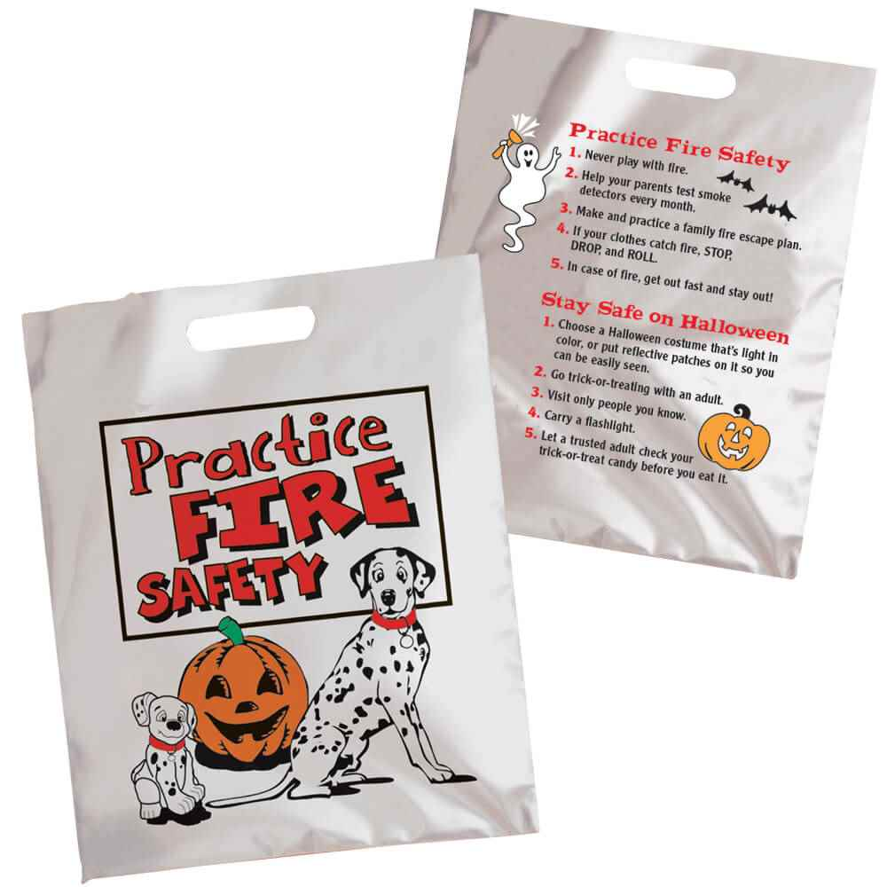 Practice Fire Safety Trick-Or-Treat Mylar Bag (Non-Personalized)