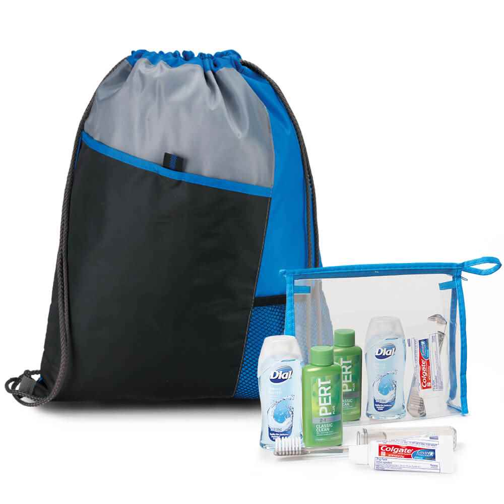 5-Piece Drawstring Backpack & Hygiene Kit Combo