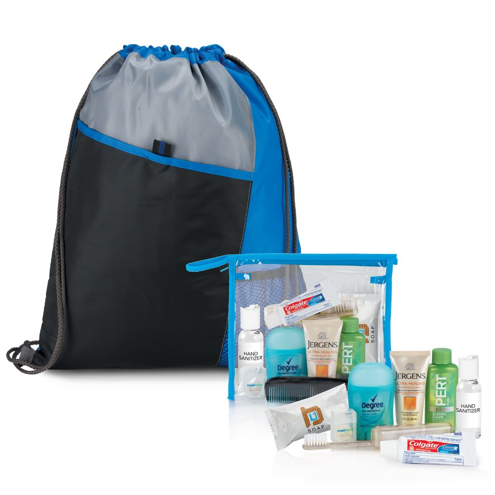 10-Piece Drawstring Backpack & Hygiene Kit Combo