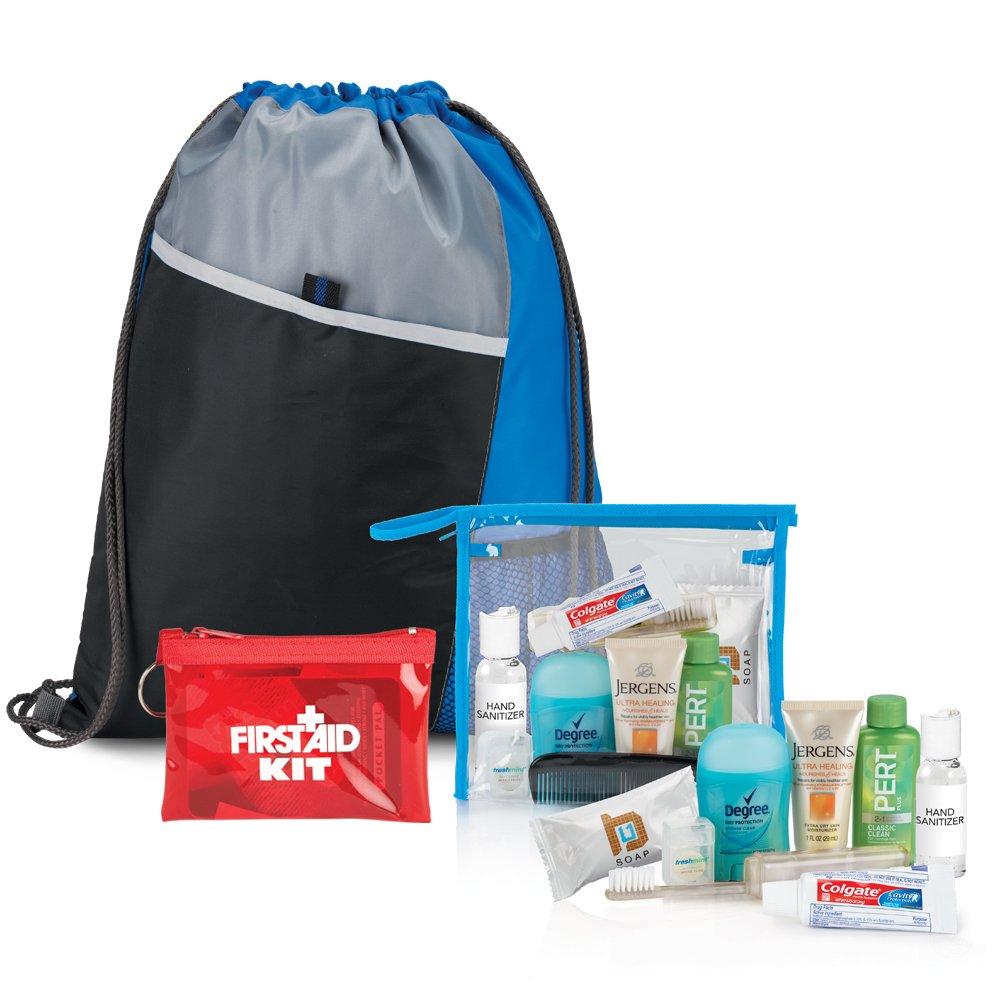 10-Piece Drawstring Backpack & Hygiene Kit Combo